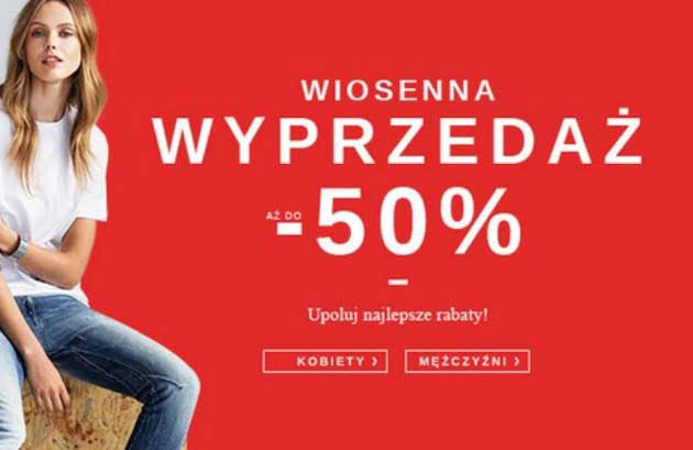Ubrania i buty 50% taniej w wyprzedaży wiosennej Zalando