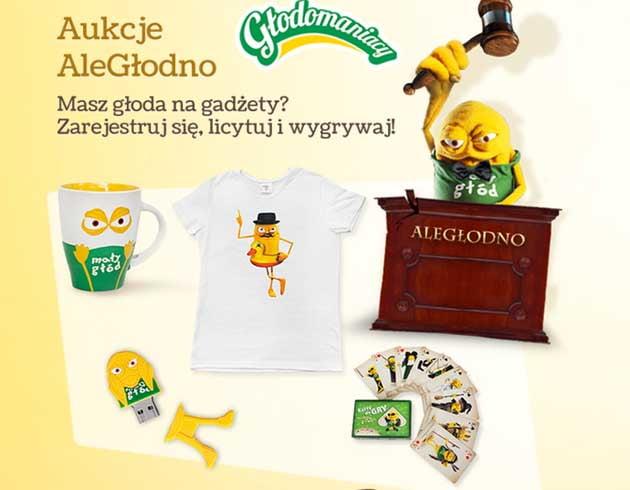 Aukcje AleGłodno, zbieraj kody Danio i wymieniaj na nagrody w Głodomaniacy