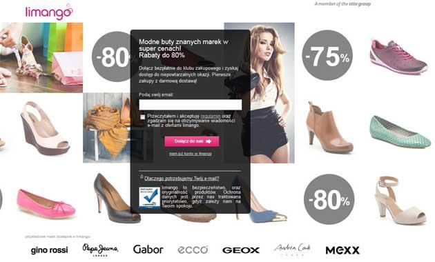 Limango obuwie taniej nawet o -80% ceny