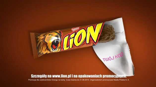 Promocja Lion darmowy Internet do Orange w każdym batonie