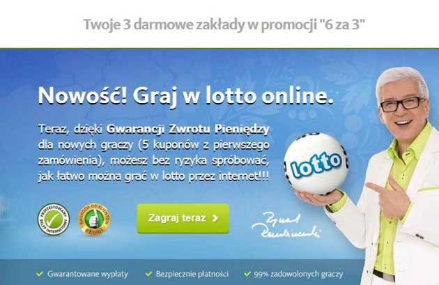 Lotek przez Internet, graj w lotto online z promocją 50% taniej