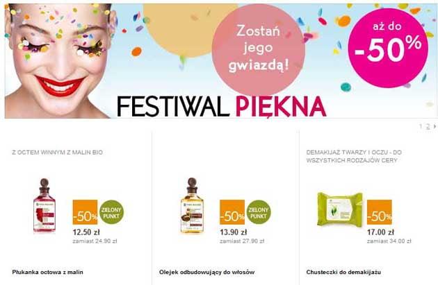 Yves Rocher festival piękna wyprzedaż kosmetyków