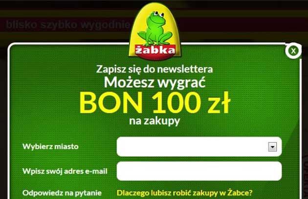 Wygraj kupon rabatowy do sklepów Żabka