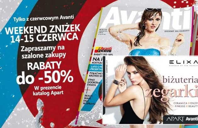 """Kupony rabatowe w magazynie Avanti na """"Weekend Zniżek"""""""
