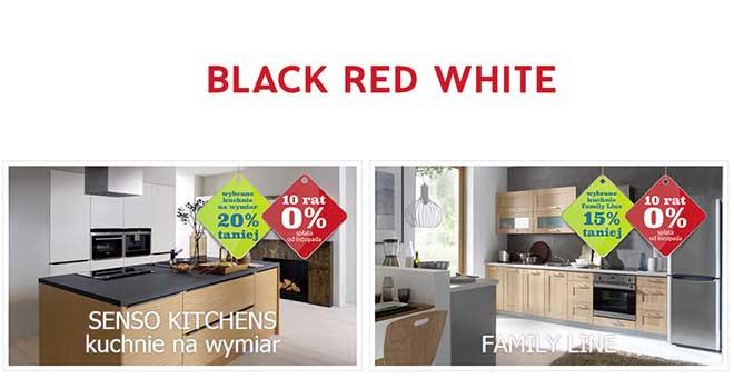 Meble black red white promocje