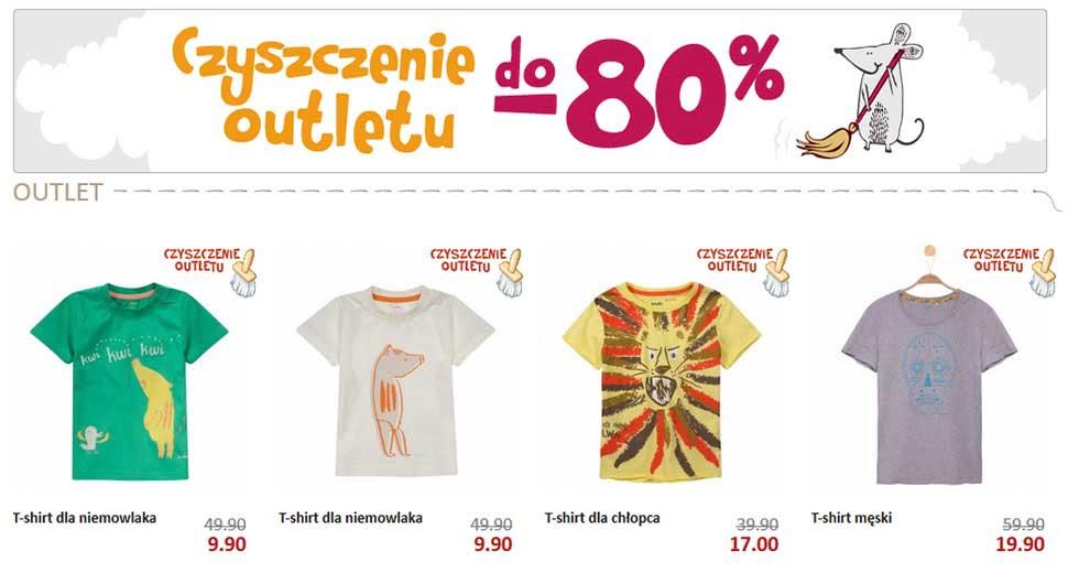 Endo promocja na ubranka dla dzieci, czyszczenie outletu