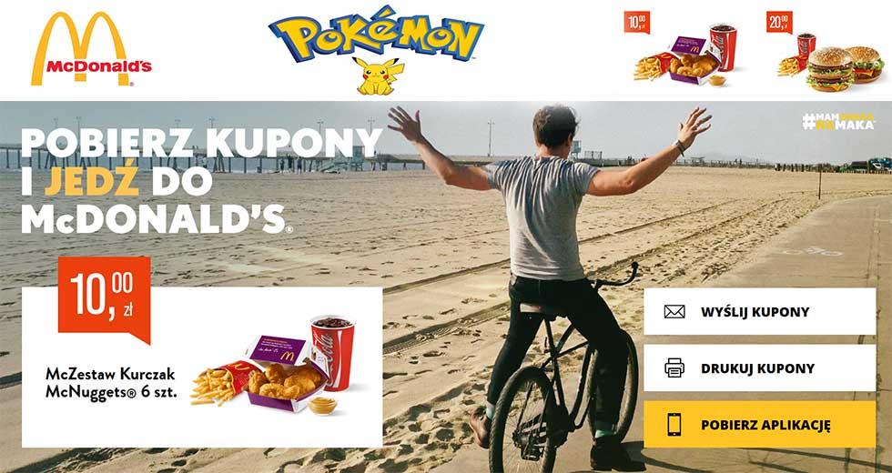 McDonald's kupony rabatowe na wrzesień i zestawy z Pokemon