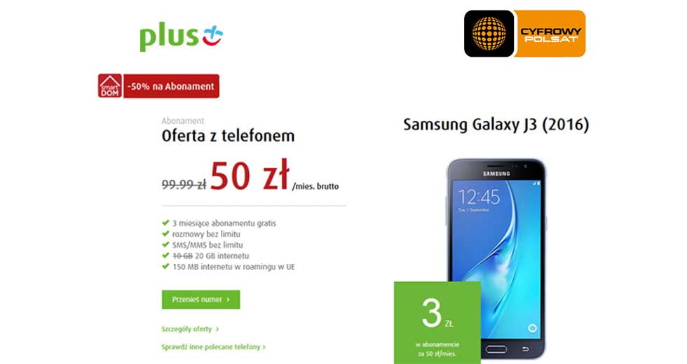Plus promocja na abonament na telefon komórkowy