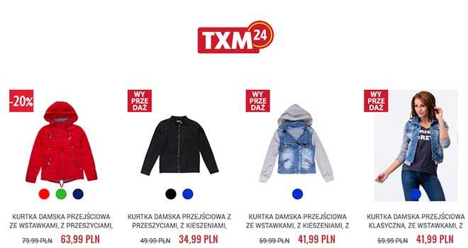 txm24 kurtki damskie promocja