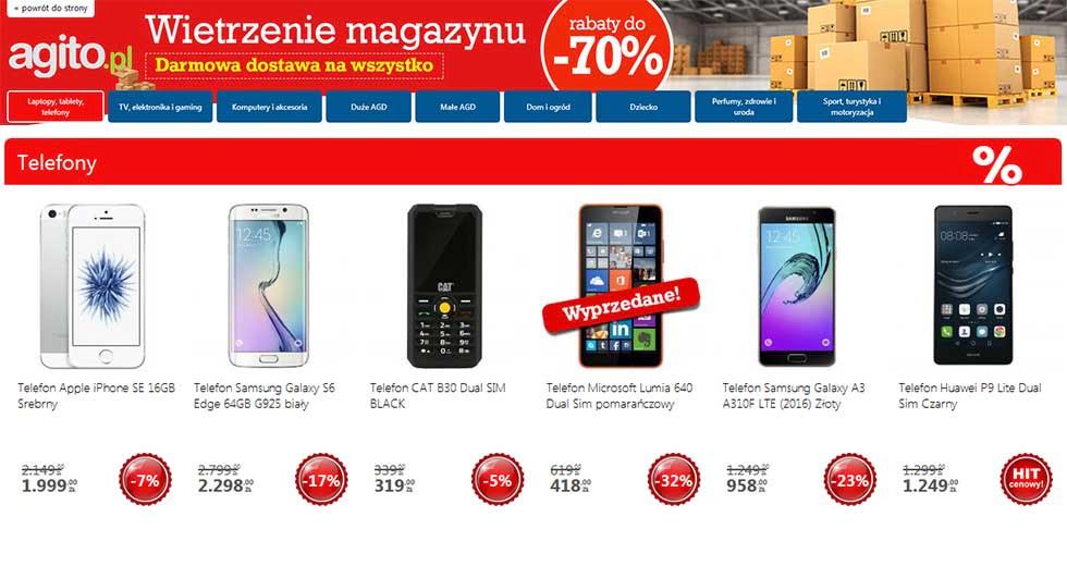 Agito wietrzenie magazynów promocja ceny do -70%