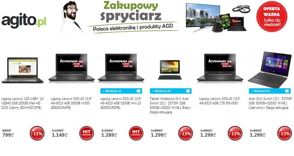 Agito promocja zakupowy spryciarz elektronika taniej