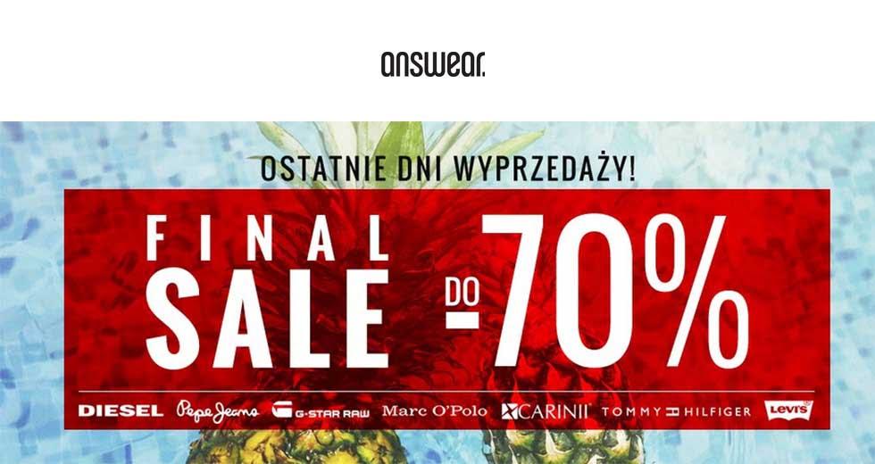 Answear promocja Final Sale ubrania do -70% taniej