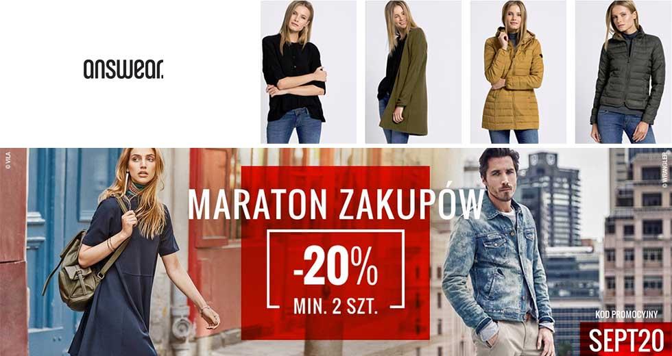 Answear Maraton Zakupów promocja odzież -20% taniej
