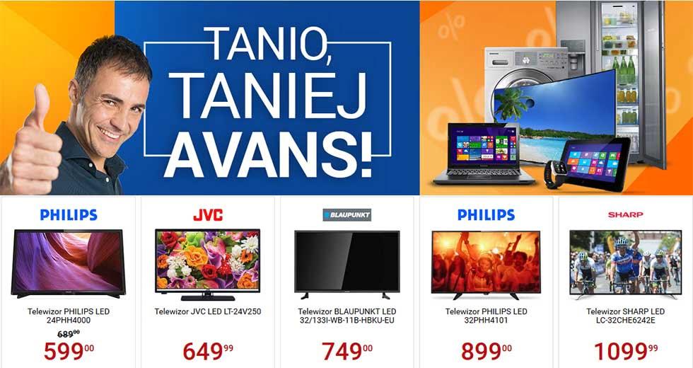Avans promocja na RTV, AGD i elektronikę z kodem rabatowym