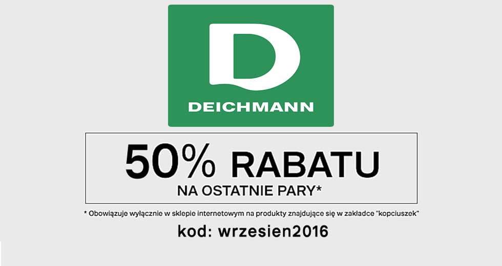 Deichmann promocja -50% rabatu na obuwie damskie i męskie