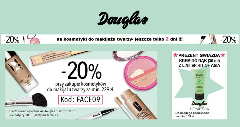 Douglas promocja i kod rabatowy na kosmetyki -20% taniej