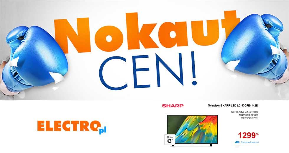 Electro promocja Nokaut Cen na RTV i elektronikę z kodem