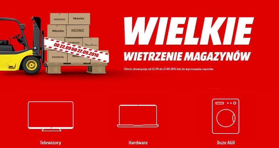 Media Markt wielkie wietrzenie magazynów z dostawą za darmo
