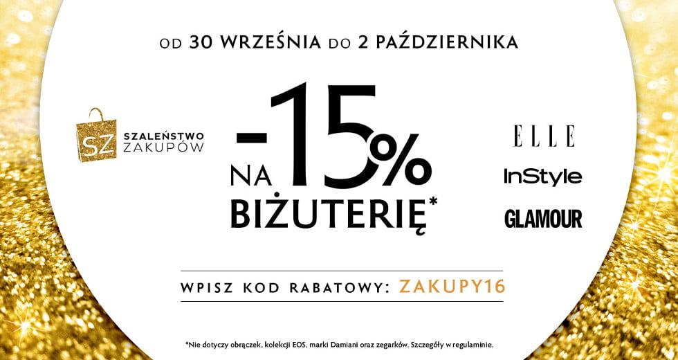 W.Kruk promocja i kod rabatowy na biżuterię -15% taniej