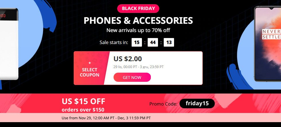 AliExpress Black Friday telefony i akcesoria do -70% taniej