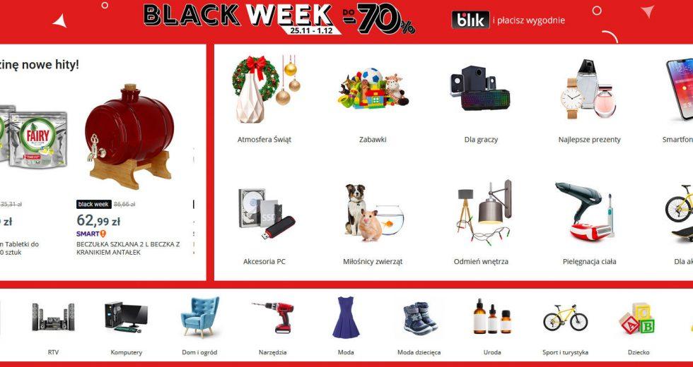 Allegro Black Friday wyprzedaże przez cały tydzień