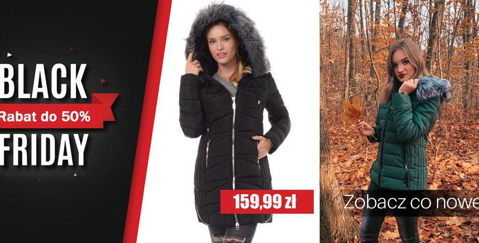 Damskie kurtki zimowe -50% taniej na Black Friday w Brendi