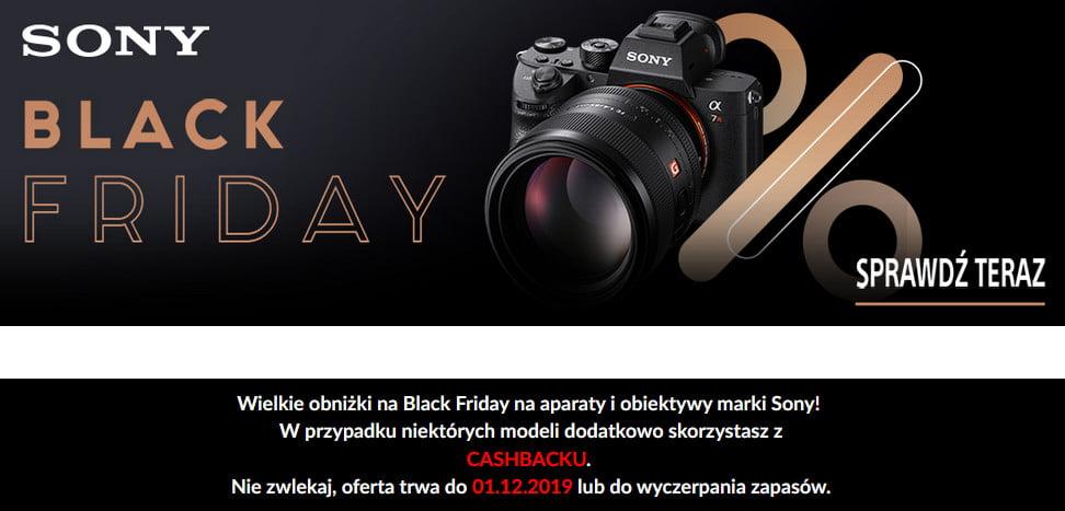 Black Friday Sony lustrzanki i aparaty cyfrowe w promocji