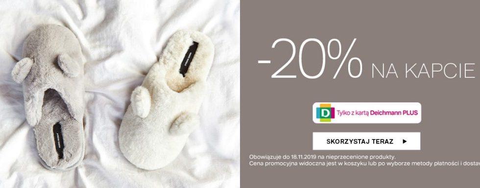 Deichmann promocja na kapcie -20% zniżki
