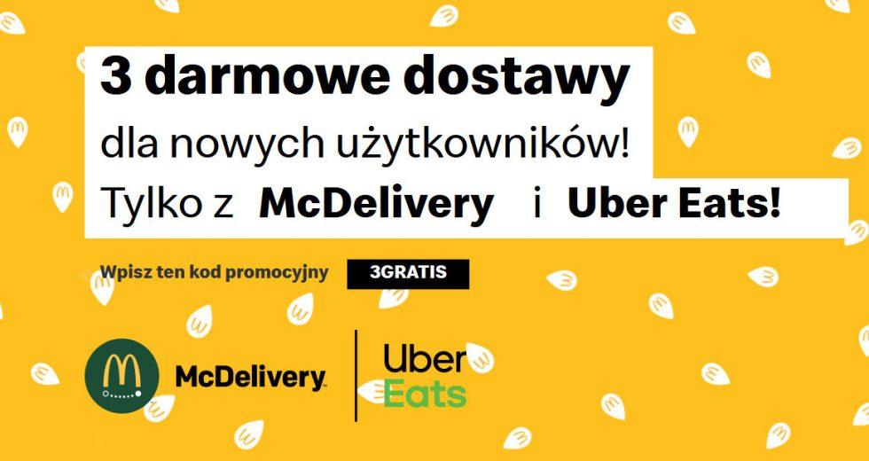 McDonald's McDelivery darmowe dostawy z kodem rabatowym