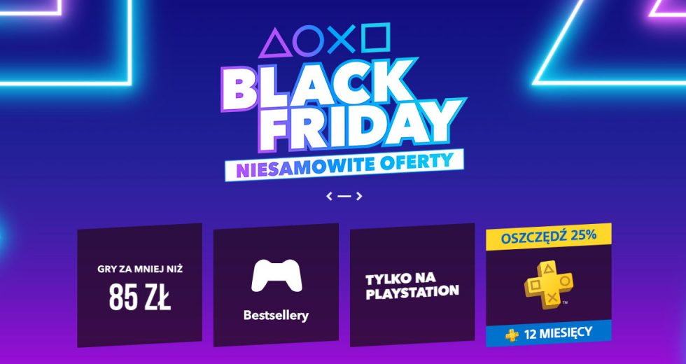Wyprzedaż gier z okazji Black Friday w PlayStation Store