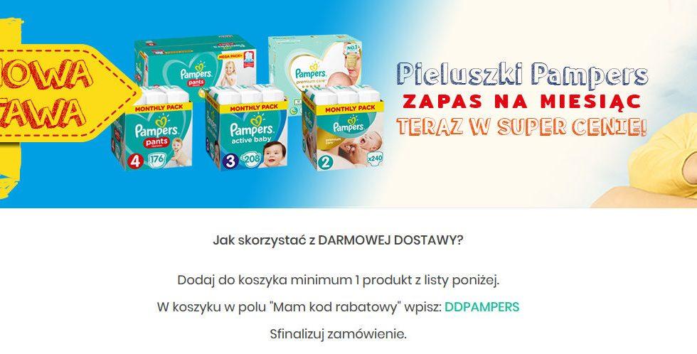 Darmowa dostawa przy zakupie pieluszek Pampers Bdsklep.pl