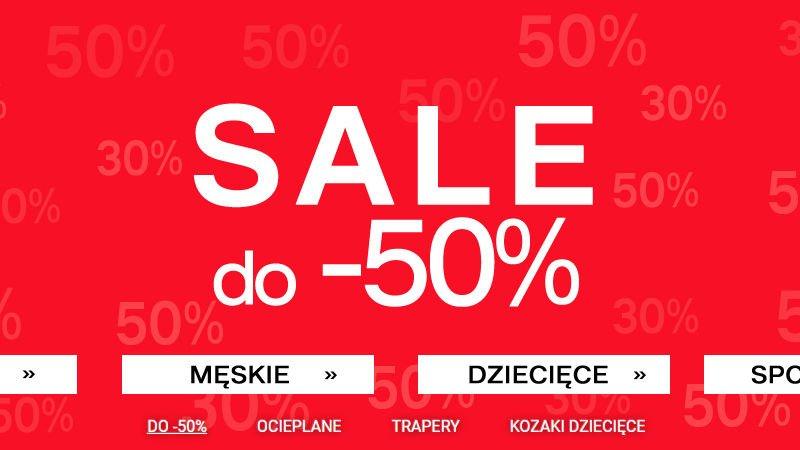 Deichmann promocja buty męskie, damskie i dla dzieci -50%