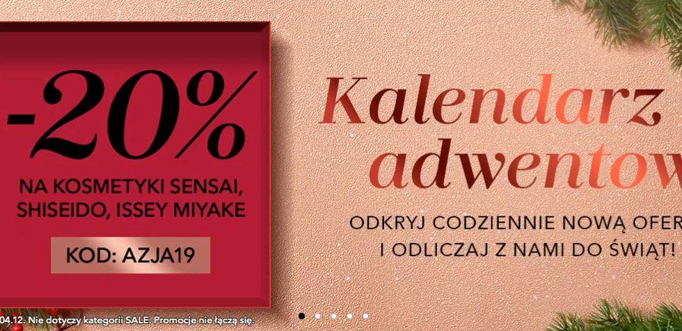 Douglas Kalendarz Adwentowy 2019, promocja na kosmetyki