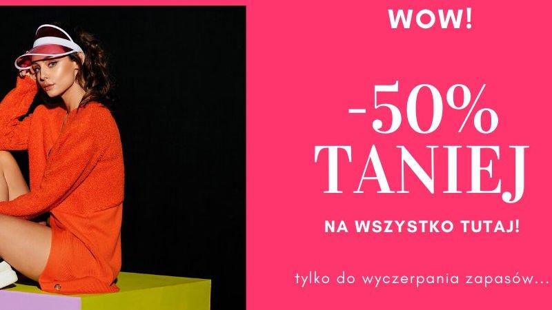 Promocja sukienki i odzież dla kobiet -50% zniżki Merg.pl