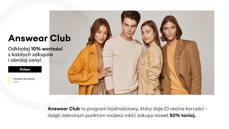 Answear Club zbieraj punkty i kupuj taniej ubrania oraz obuwie