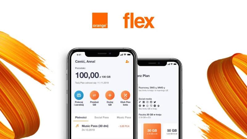 Orange Flex pakiety i kod promocyjny na miesiąc usługi za 1 zł